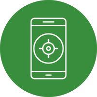 GPS Mobile Application Vector Icon