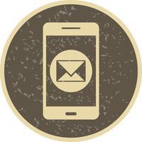 Icona di vettore dell'applicazione mobile messaggio