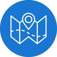 Plan carte Vector Icon