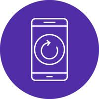 Reset mobiele applicatie vector pictogram
