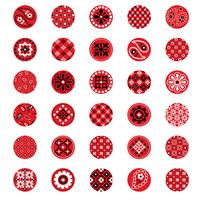red bandana pattern circles