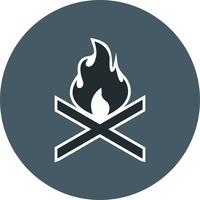 Bone fire Vector Icon