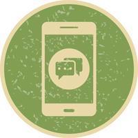 Gesprek Mobiele applicatie Vector Icon