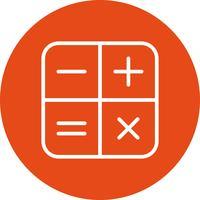 ikon för vektorkalkylator
