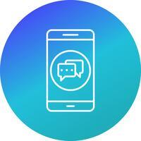 Icona di vettore di applicazione mobile di conversazione