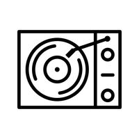 Vinyl-Player-Vektor-Symbol