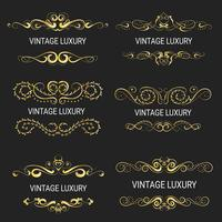Gold decorative frame.Vintage templates