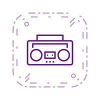 Icona di vettore del nastro audio