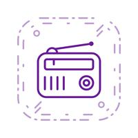 radio vector pictogram