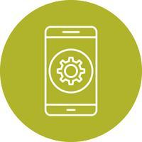 Mobile Anwendungsvektorikone einstellen
