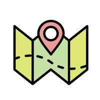 Mapa plano icono de vector