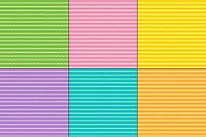Easter zig zag stripe patterns