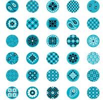 turquoise blue bandana pattern circles vector