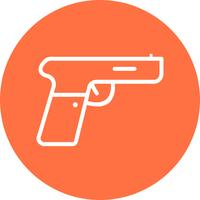 Icône de vecteur de pistolet