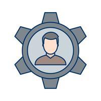 Icona di gestione vettoriale