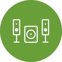 icône de vecteur de système de musique