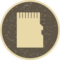 Ícone de vetor de cartão de memória