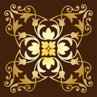 gold ornate tile pattern