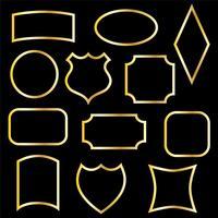 metallic gold frames vector