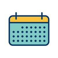 Icône de calendrier de vecteur
