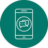 icône de vecteur d'application mobile de conversation
