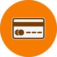 Icône de carte de crédit de vecteur