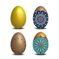 Mandala Easter egg collection.