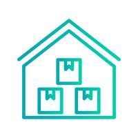 Stockage entrepôt Vector Icon