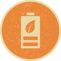 Eco Battery Vector Icon