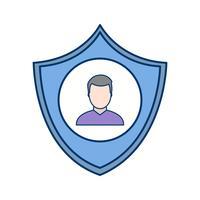 Icona di vettore di protezione aziendale