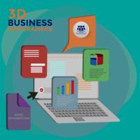 Infografia de negócios 3D