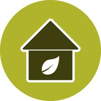 Eco Home Vector Icon