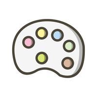 Icône de vecteur couleur pallete