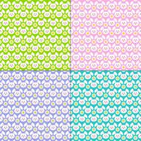 Easter bunny face and daisy patterns