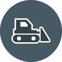 Bulldozer-Vektor-Symbol