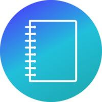 Vector Spiral Notebook Icon