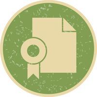 Icône de diplôme de vecteur