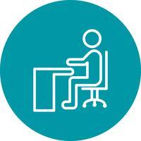 Vettore che si siede sull'icona di scrivania