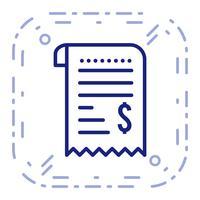 Icône de reçu de vecteur