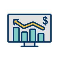 Ícone de vetor de gráfico de negócios
