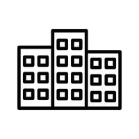 Icône de bâtiment de vecteur