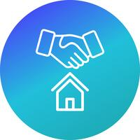 icône de vecteur de deal maison