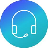 Icono de vector de auricular