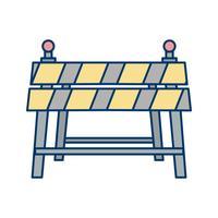 Icono de vector de barrera
