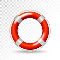 Life buoy isolated on transparent background. Detailed vector illustration for your design.