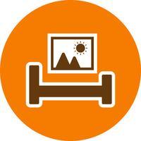 Bed kamer vector pictogram