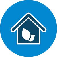 Eco huis vector pictogram
