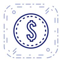 Vector Dollars Coin Icon
