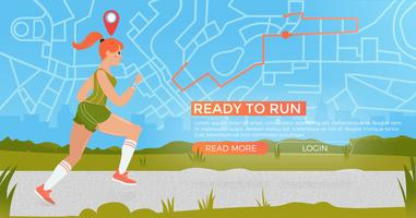 Athletic woman on run with fitness tracker