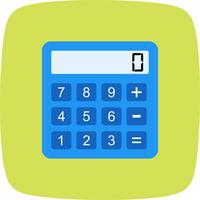 Icona del calcolatore di vettore